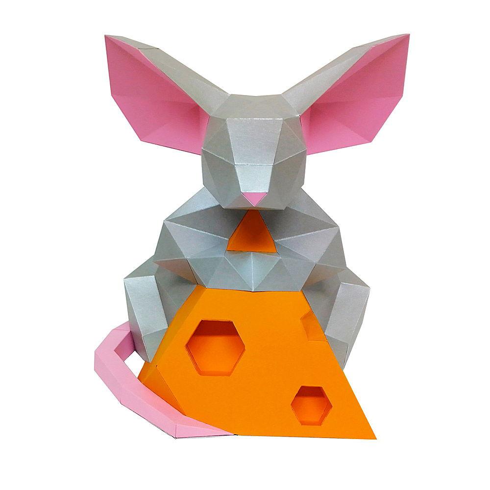 """3D фигура Paperraz """"Мышка с сыром"""" от 1 390 руб"""
