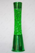 Лава-лампа 39см CG-G Зелёная/Блёстки (Хром)