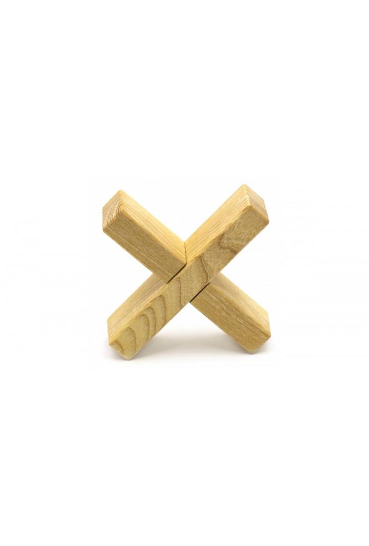 """Деревянная головоломка """"Крест - вертушка"""""""