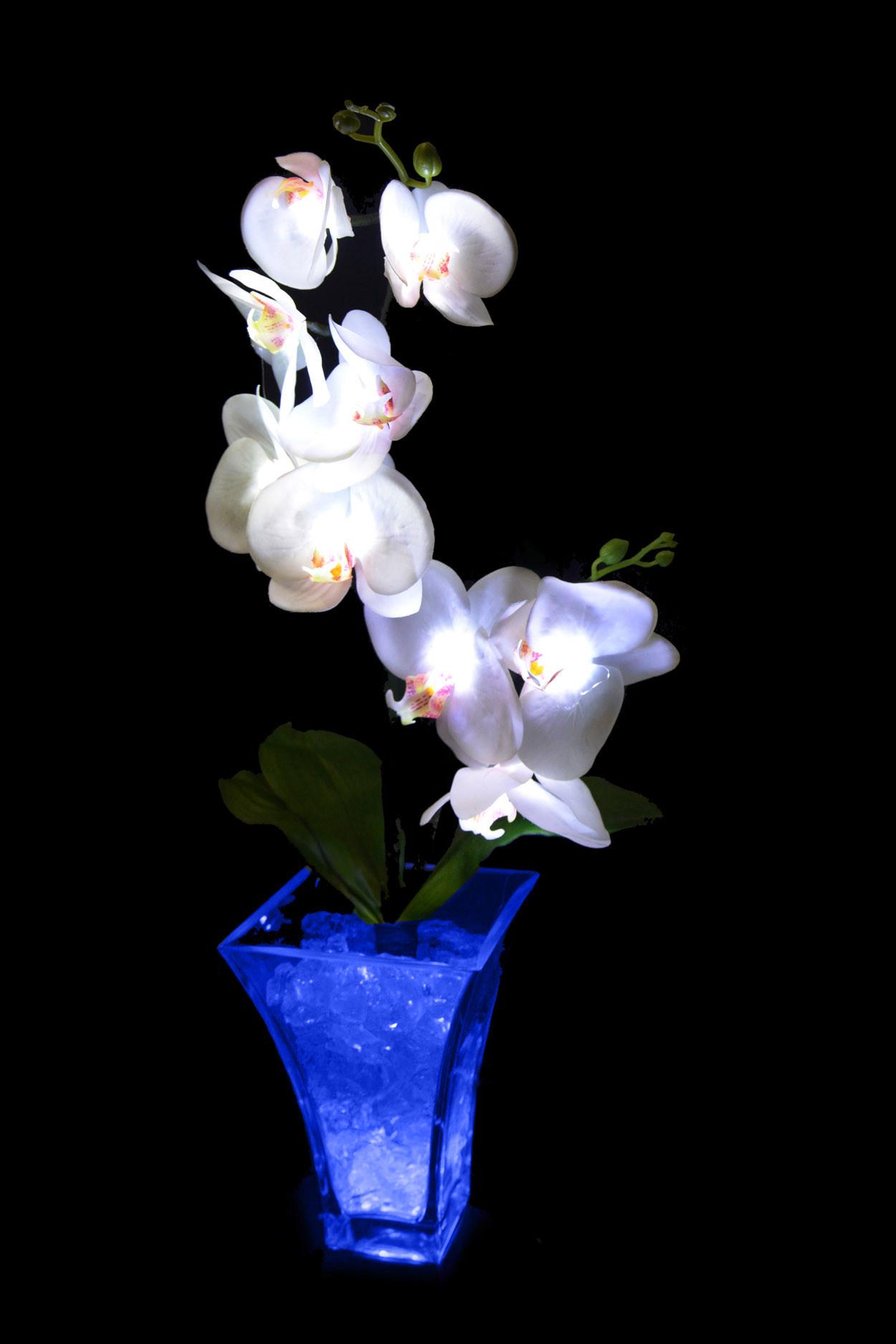 Светильник Орхидея белый(син) 9 цветков