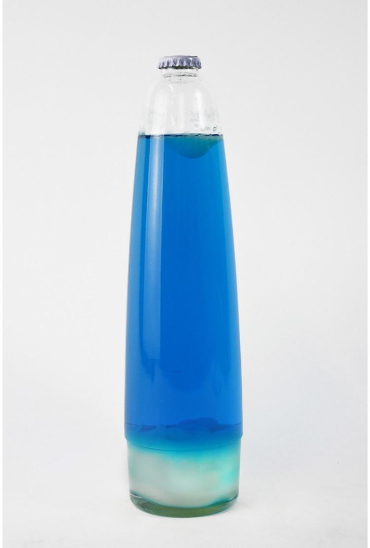 Колба Amperia для лава-лампы 48 см Белая/Синяя (20,5*8 см)