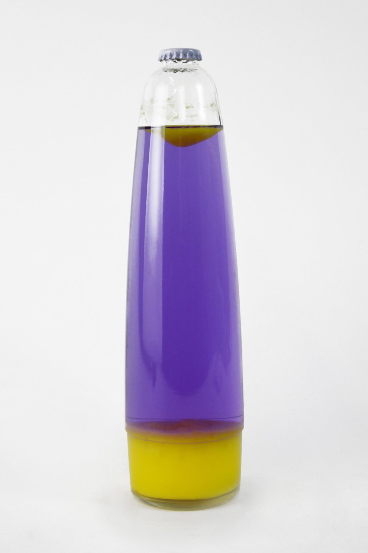 Колба Amperia для лава-лампы 48 см Оранжевая/Фиолетовая (20,5*8 см)