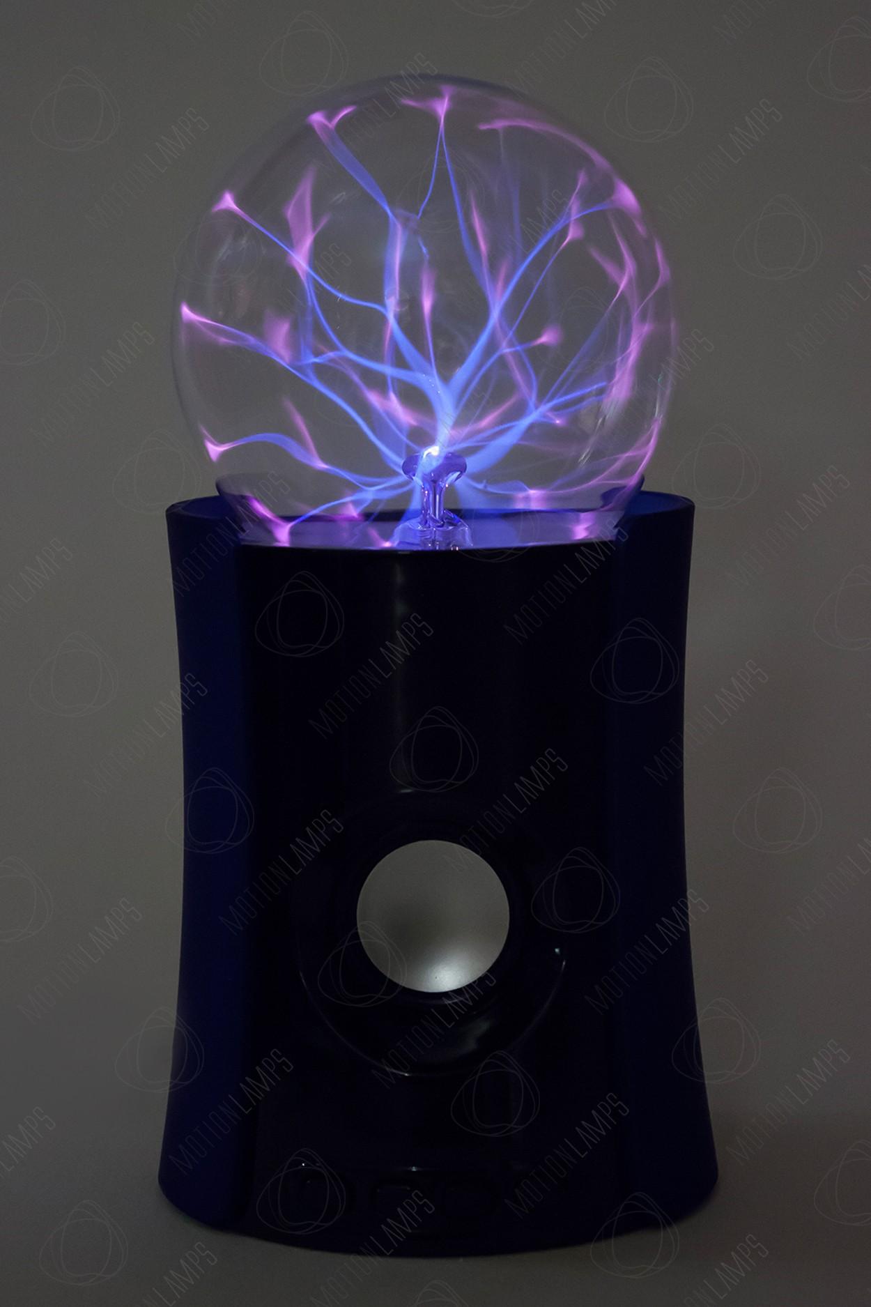Bluetooth-колонка плазменный шар Тесла синяя (D -10см)