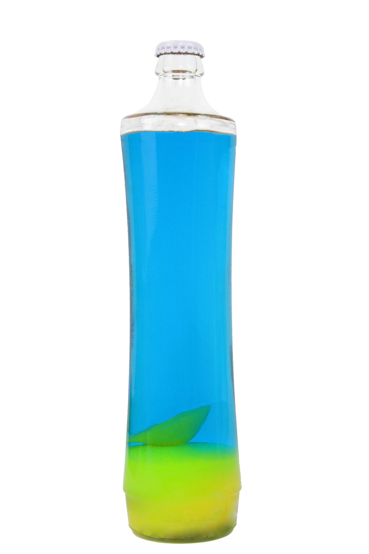 Колба Amperia для лава-лампы Grace 39 см Желтая/Синяя (21*7 см)