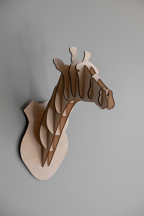 """Деревянный 3D конструктор """"Голова жирафа"""""""