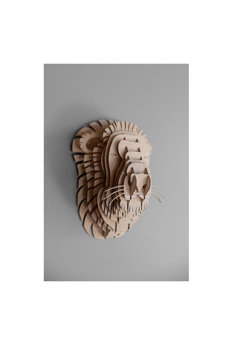 """Деревянный 3D конструктор """"Голова льва"""""""