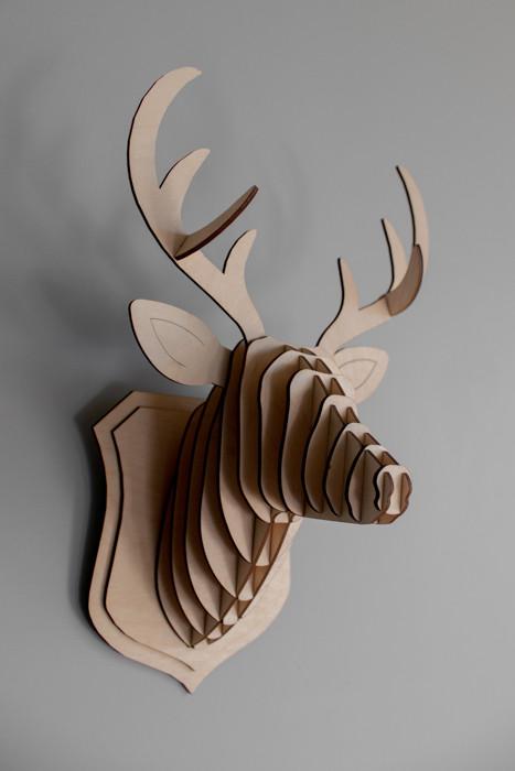 """Деревянный 3D конструктор """"Голова оленя 3"""