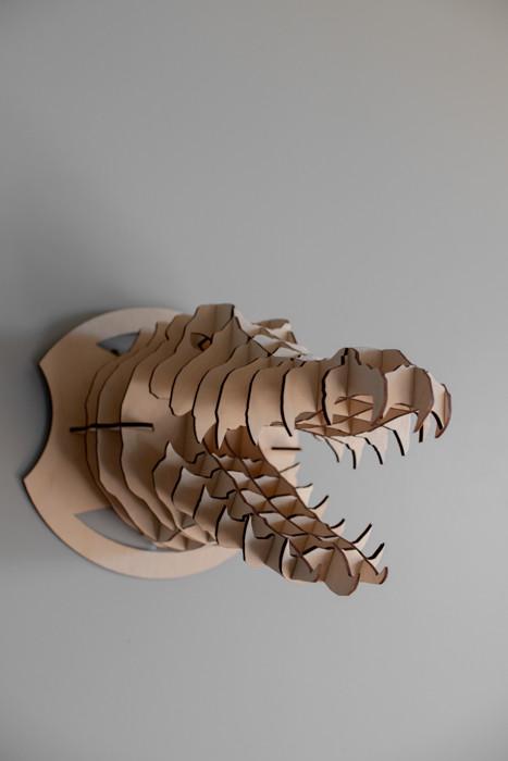 """Деревянный 3D конструктор """"Голова крокодила"""""""