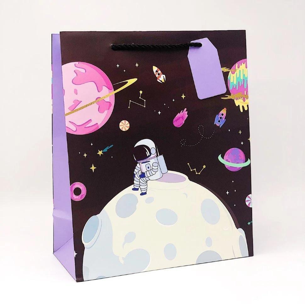Подарочный пакет Космонавт (26*12.5*32)
