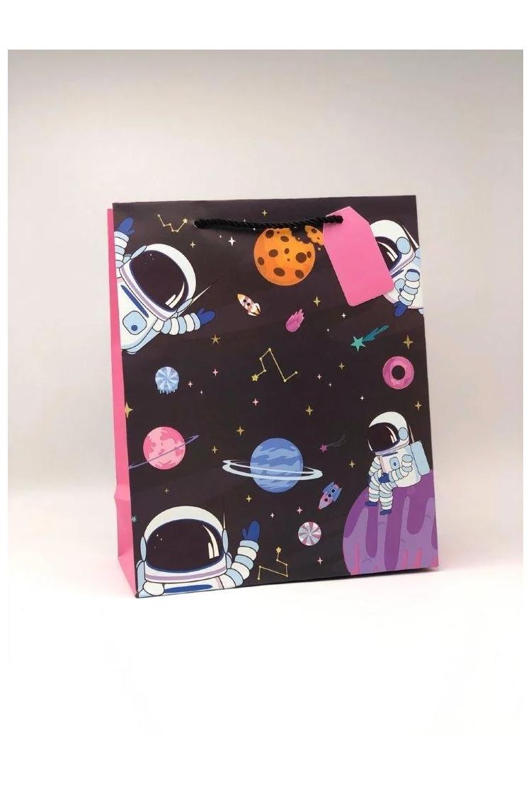 Подарочный пакет Космонавты (26*12.5*32)