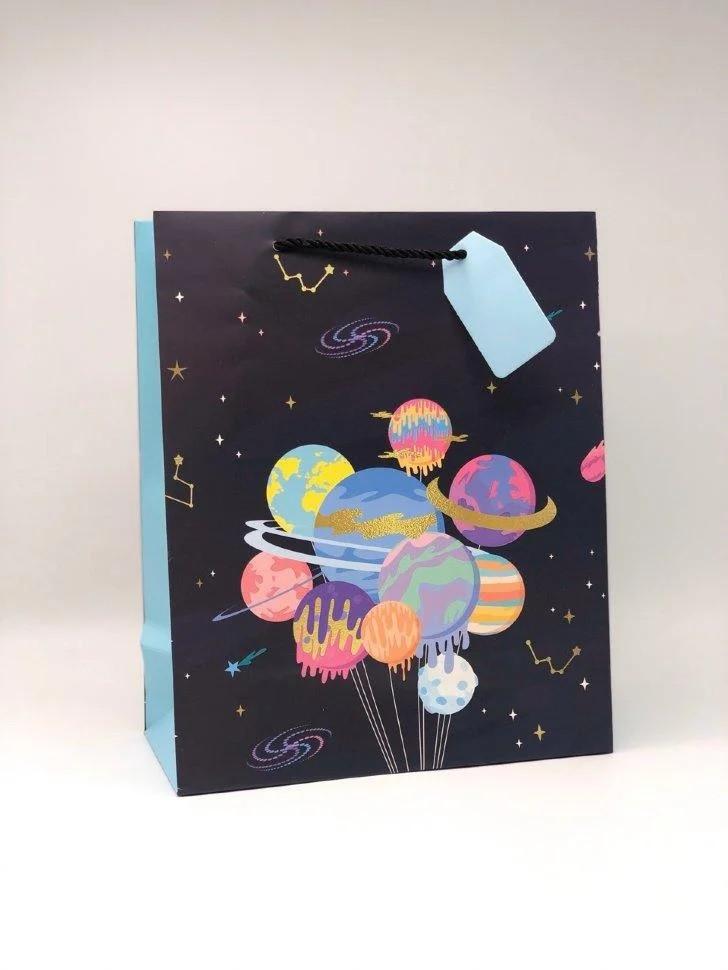 Подарочный пакет Планеты (26*12.5*32)