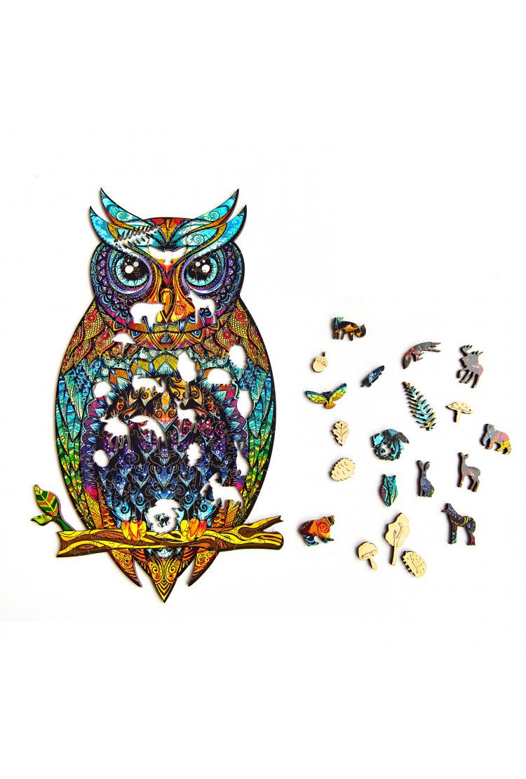 Деревянный пазл Чарующая сова (23*15) A5