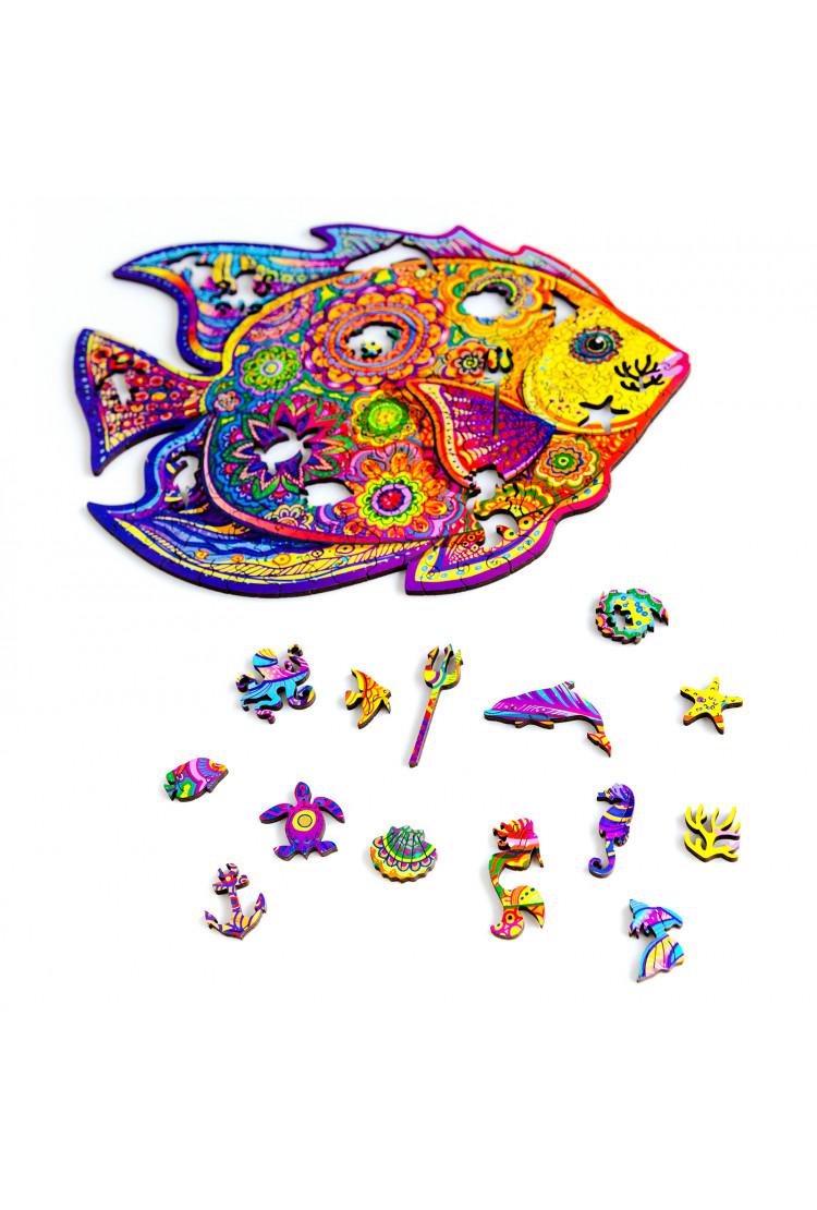 Unidragon деревянный пазл «Сияющая Рыбка» (32*24) А4