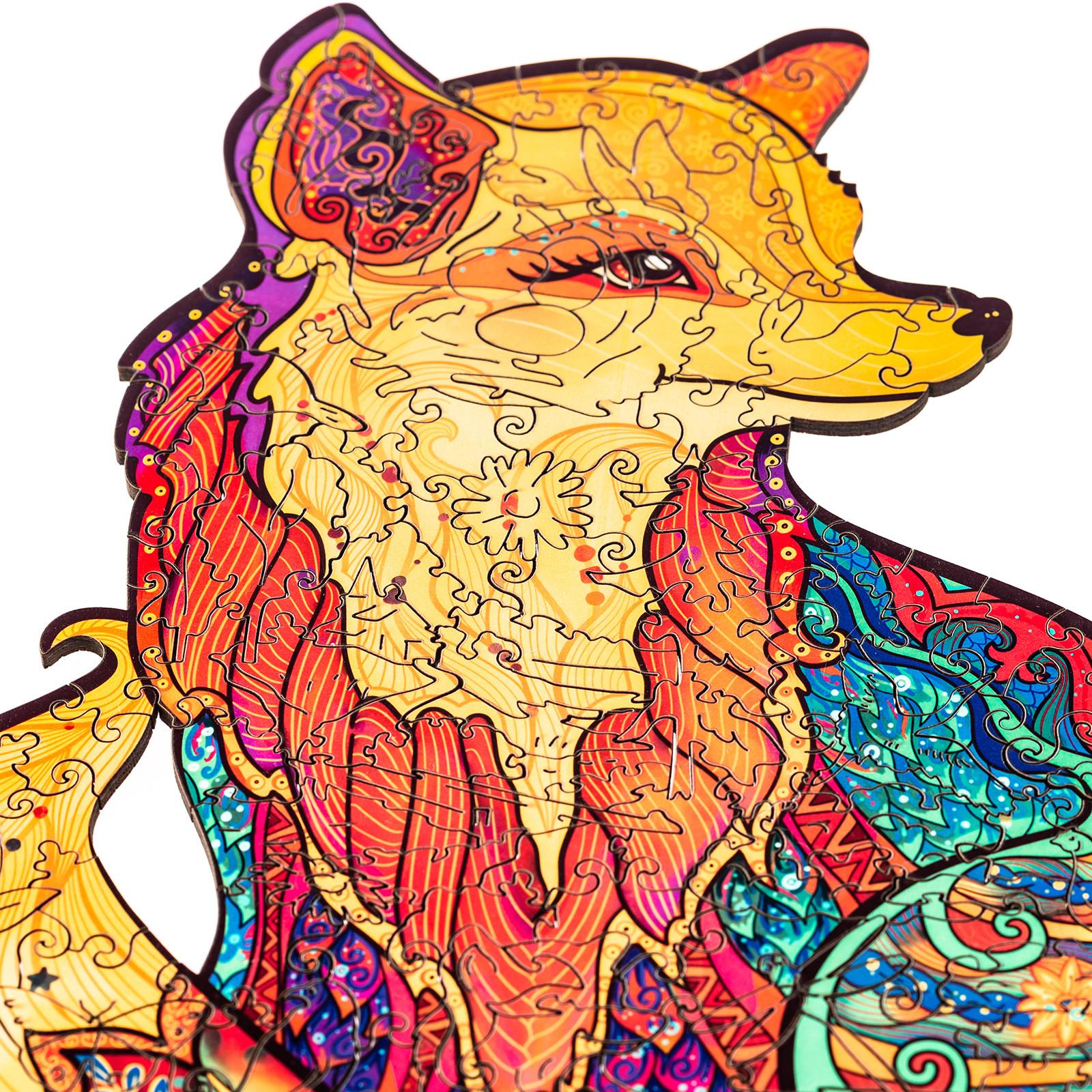 Unidragon деревянный пазл «Обольстительная Лисичка» (23*18) А5