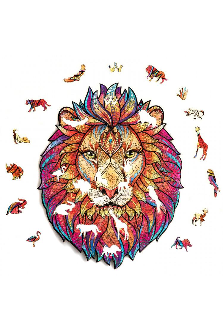 Unidragon деревянный пазл «Таинственный Лев» (24х19) А5