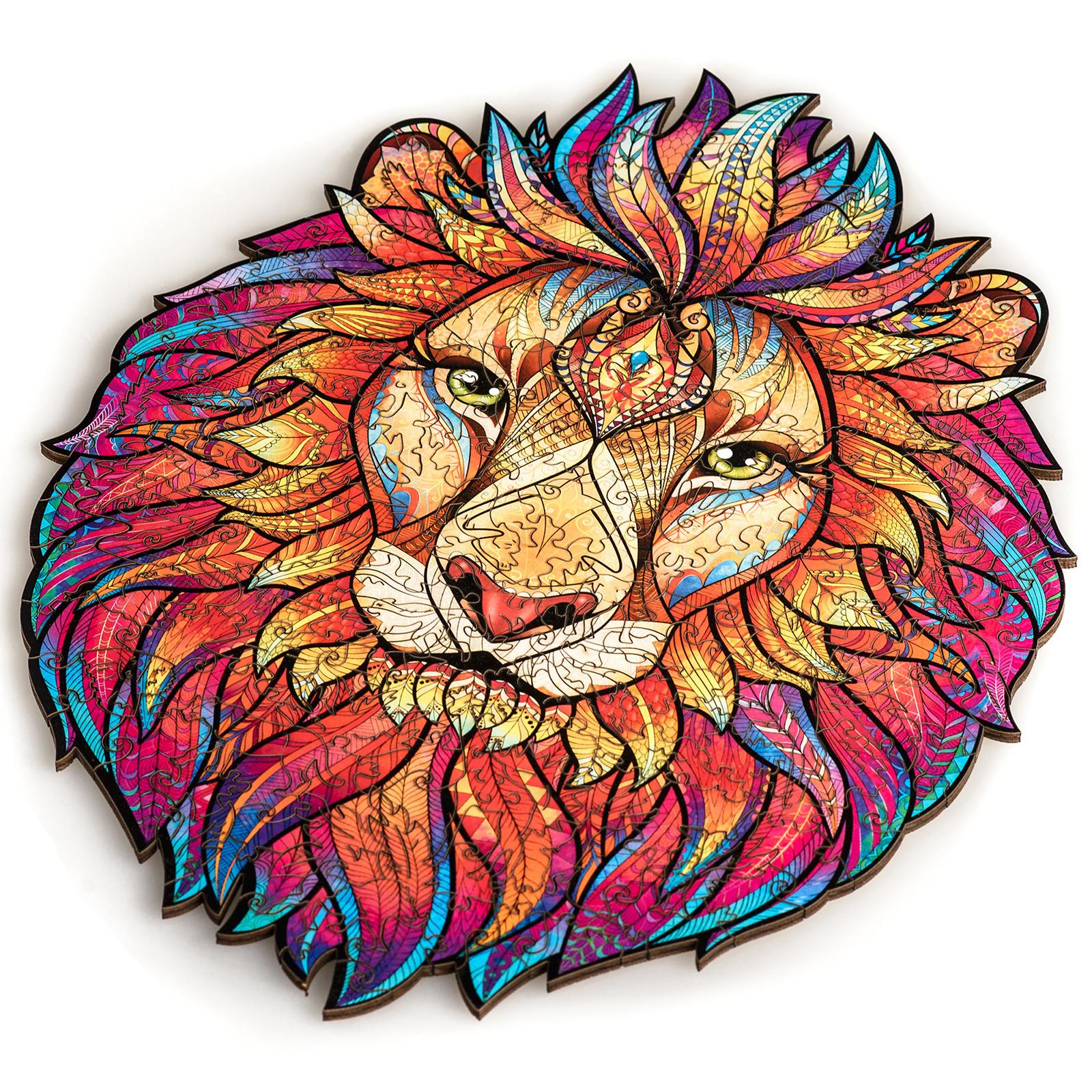 Unidragon деревянный пазл «Таинственный Лев» M (31*24) А4