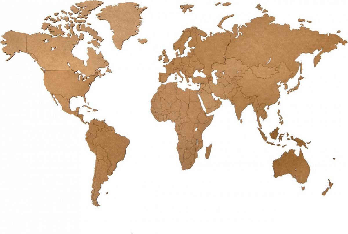 Карта Wall Decoration коричневая 130*78