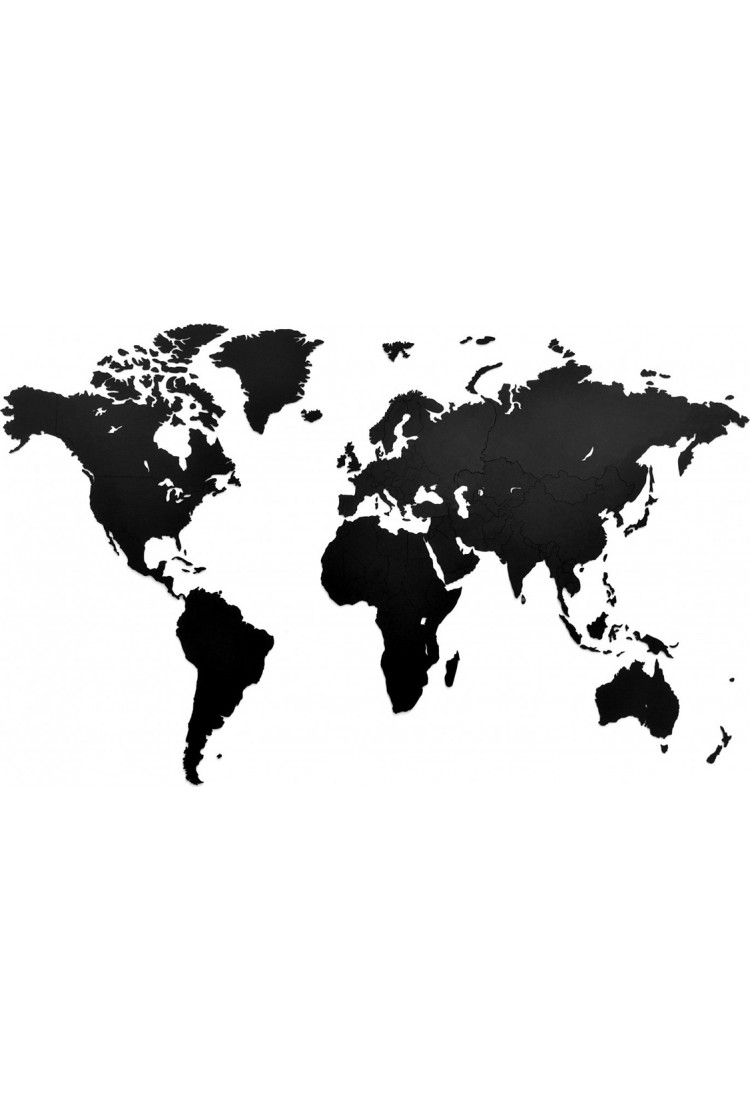 Карта Wall Decoration черная 180*108