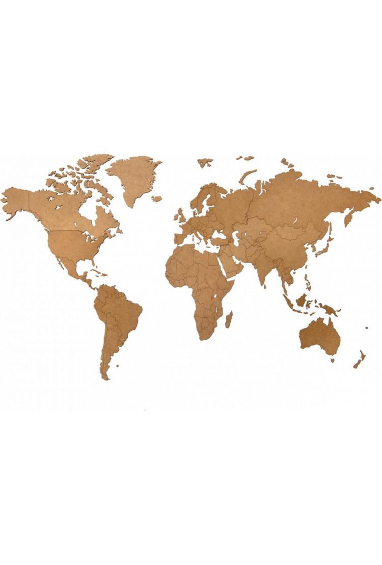 Карта Wall Decoration коричневая  180*108