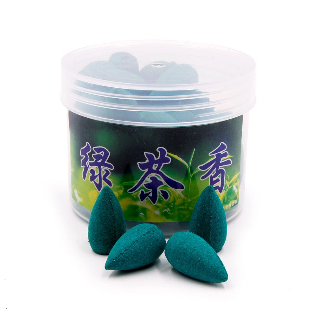Благовония стелющийся дым Свежесть утра Зеленый чай (45+ шт.)