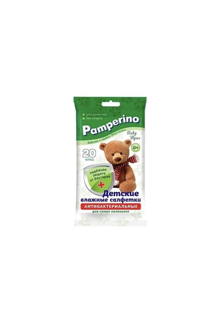Антибактериальные детские салфетки Pamperino 20 шт