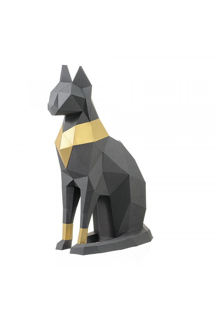 """3D Фигура """"Кошка Бастет"""", серый, набор для творчества"""