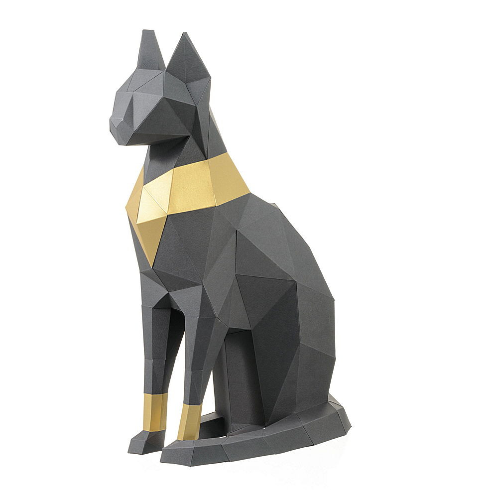 """3D Фигура """"Кошка Бастет"""", графитовая, набор для творчества"""