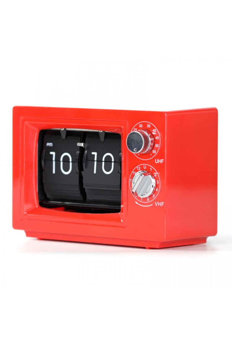 Перекидные часы Air-Flip красные TV с подсветкой