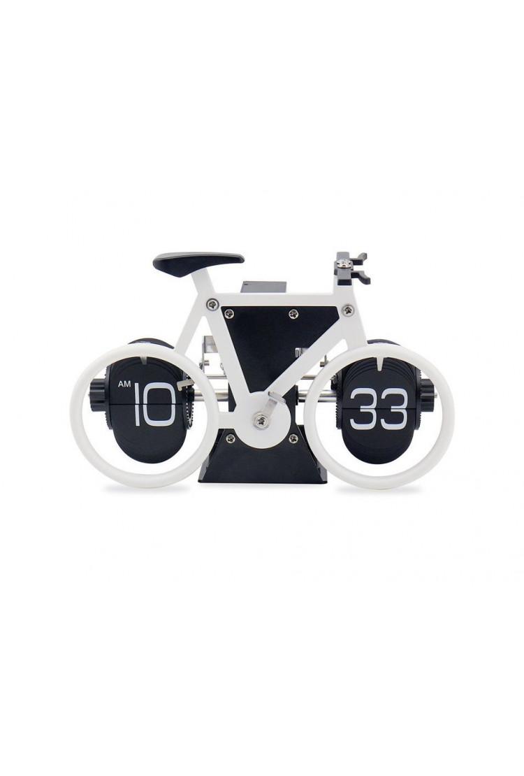 Перекидные часы-велосипед Air-Flip Clock Bike, белые