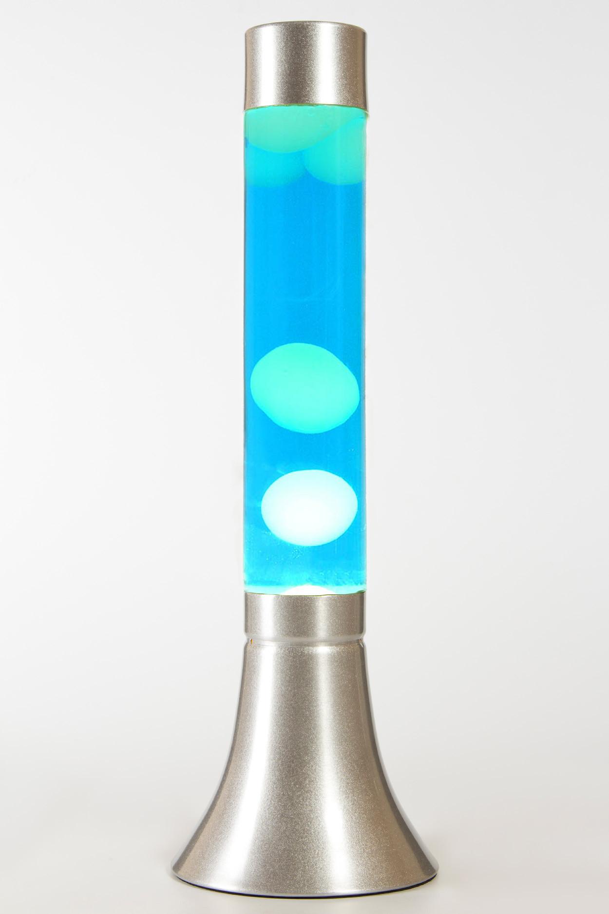 Лава-лампа 39см CY Белая/Синяя