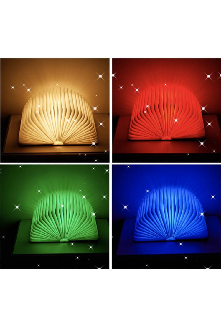 Светильник книга Lumobook (грецкий орех) RGB+Bluetooth+ДУ (19*15см)