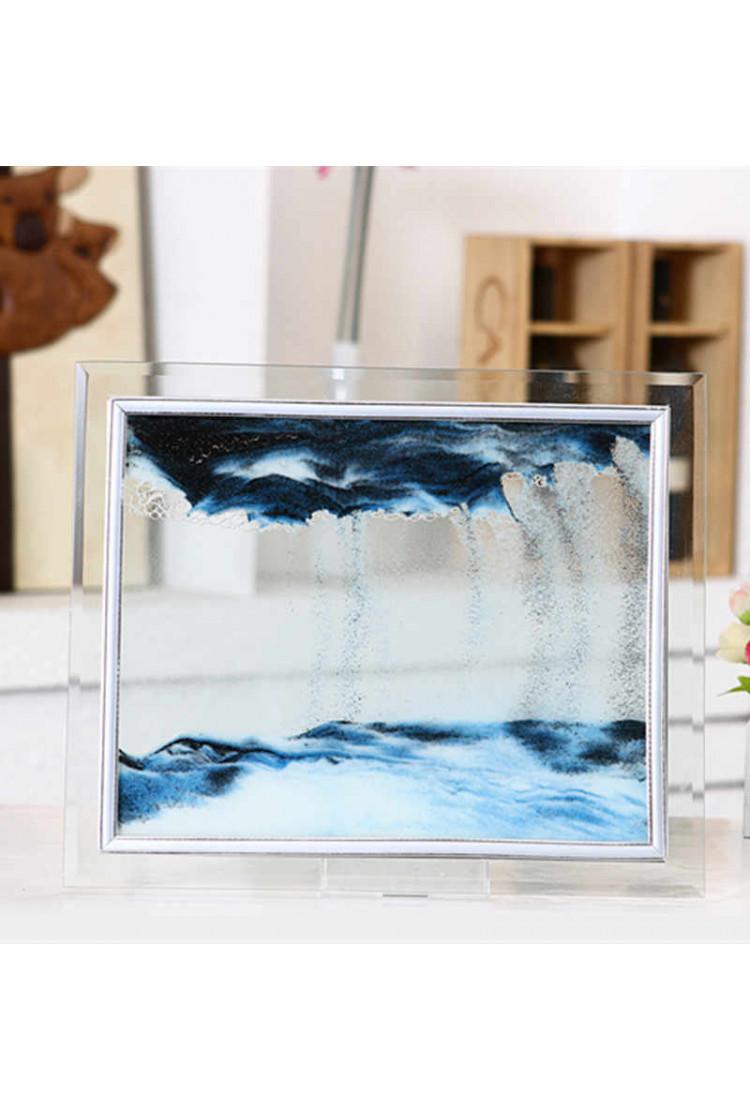 Песочная картина  - Цвет -синий  - 17*22см