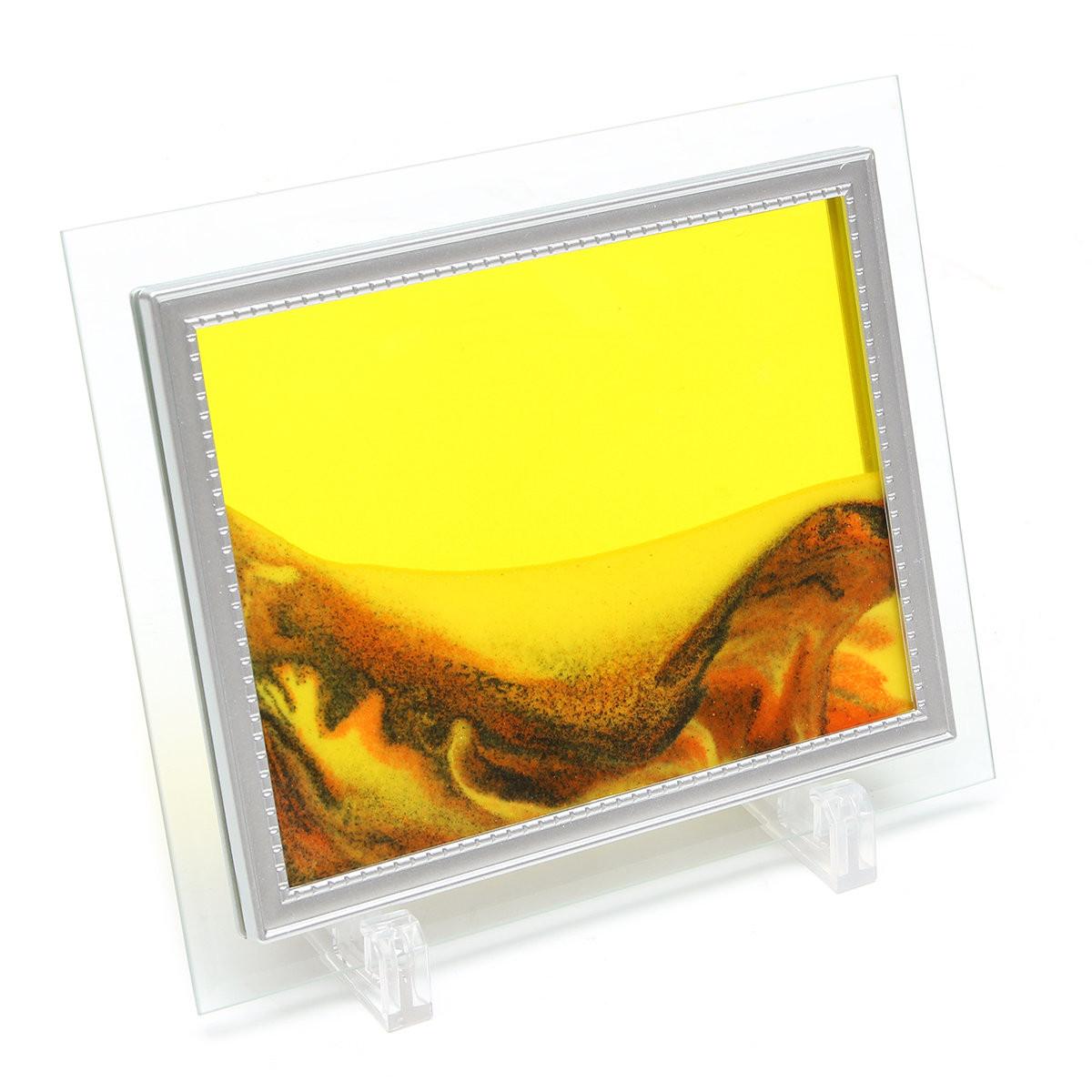 Песочная картина  - Цвет - оранжево-желтый  - 13*17см