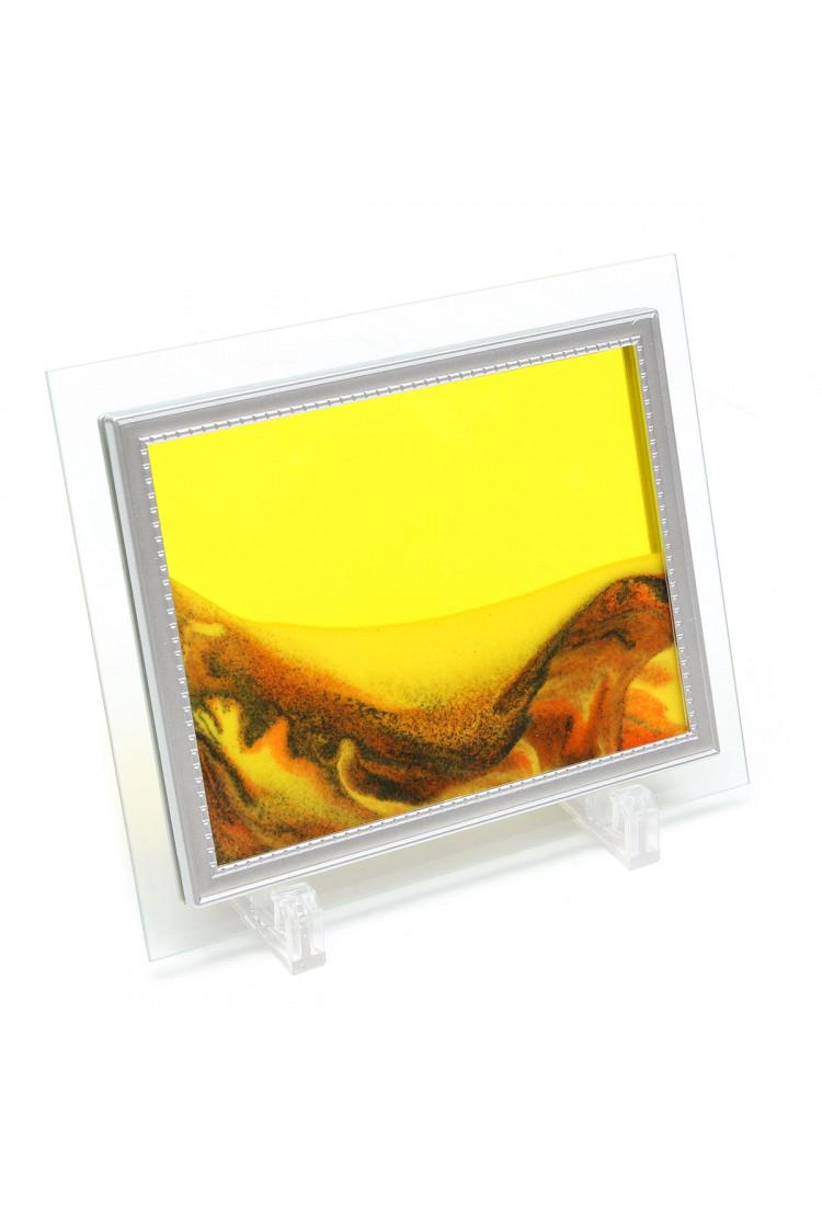 Песочная картина  - Цвет - оранжево-желтый  - 15*30 см