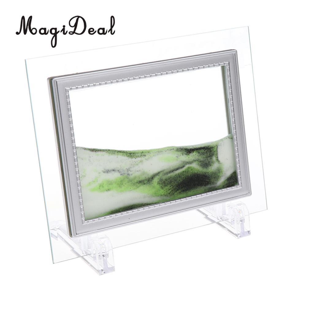 """Песочная картина """"Живой пейзаж"""" 18х22 см зелёная"""
