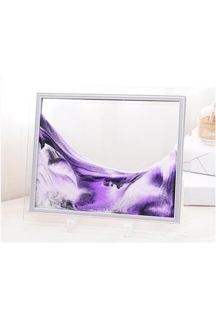 Песочная картина  - Цвет - фиолетовый  - 13*17см