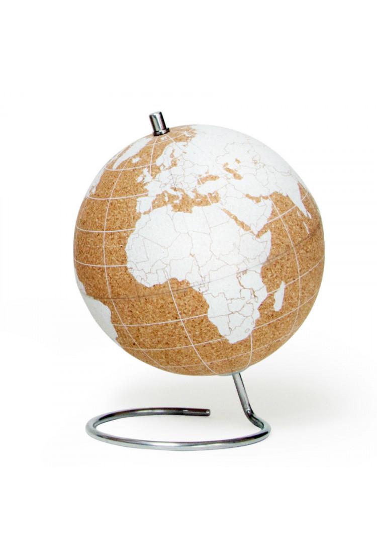 Глобус Cork Globe, белый, Ø14 см