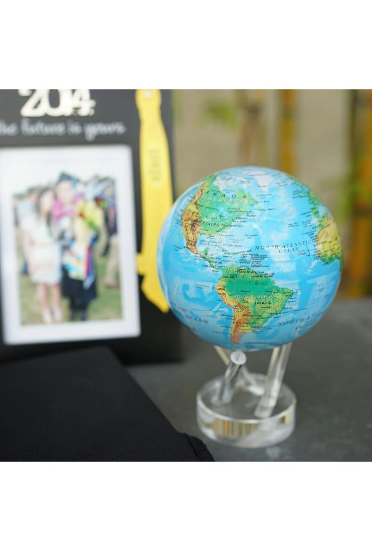 Самовращающийся глобус Mova d 16.5 с географической картой мира