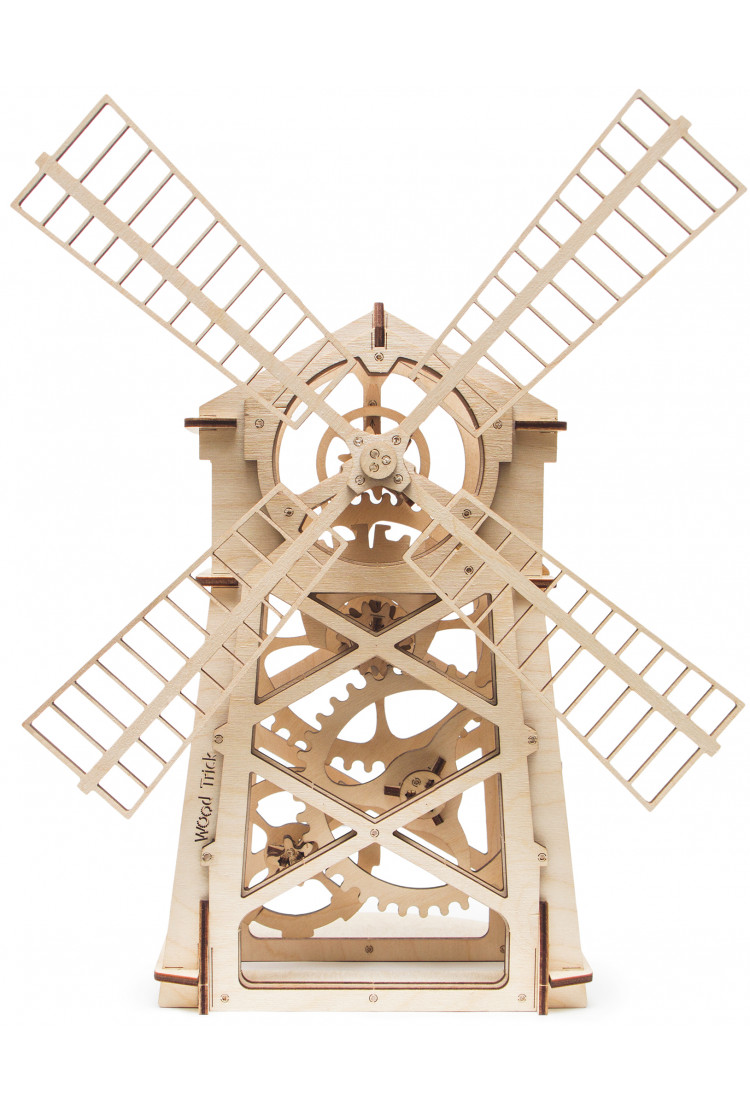 Механический 3D-пазл из дерева Wood Trick Мельница
