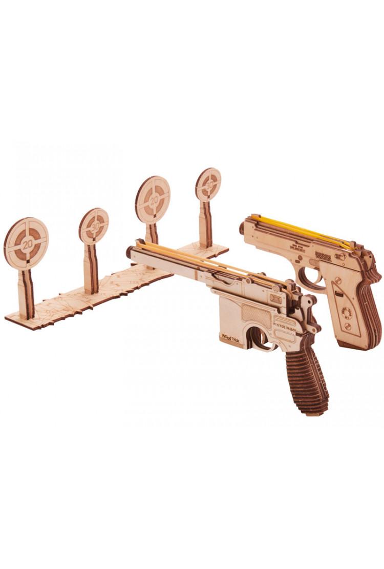 Механический 3D-пазл из дерева Wood Trick Набор пистолетов