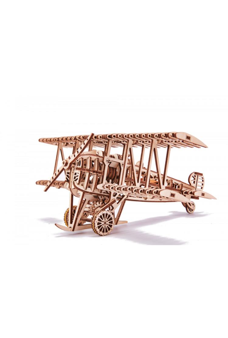 Механический 3D-пазл из дерева Wood Trick Самолет