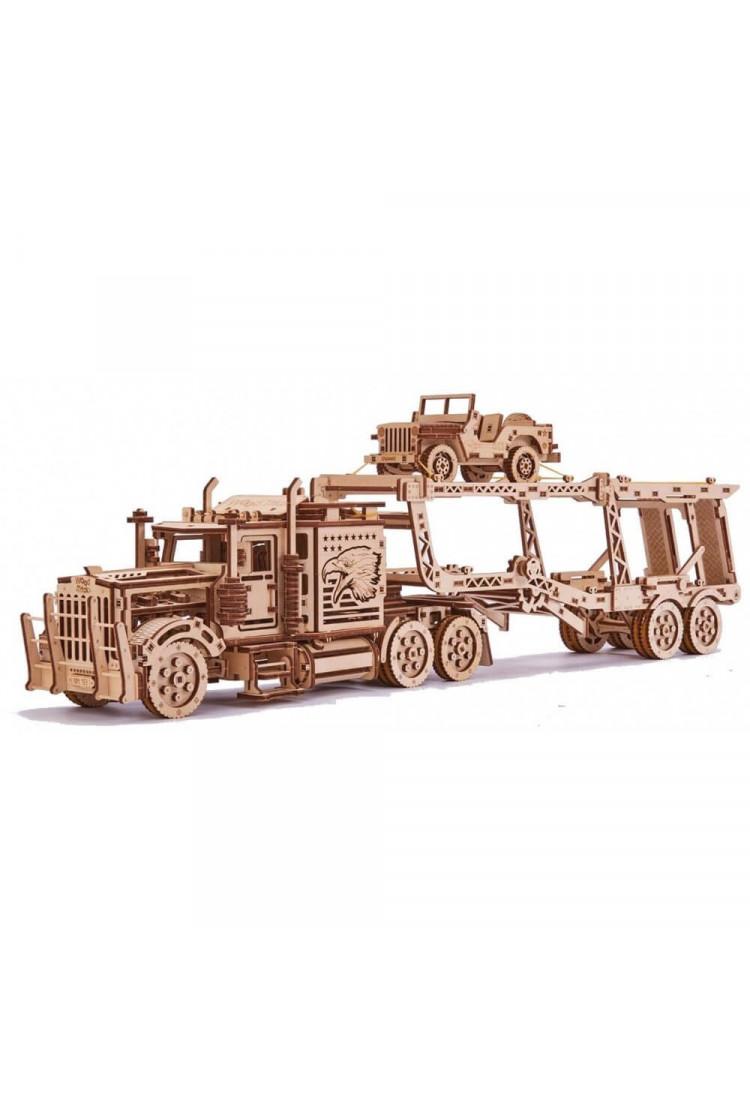 """Механический 3D-пазл из дерева Wood Trick """"Биг Риг Автовоз"""""""