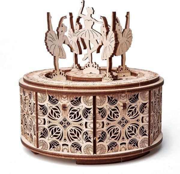 Сборная музыкальная шкатулка Wood Trick Танцующие балерины