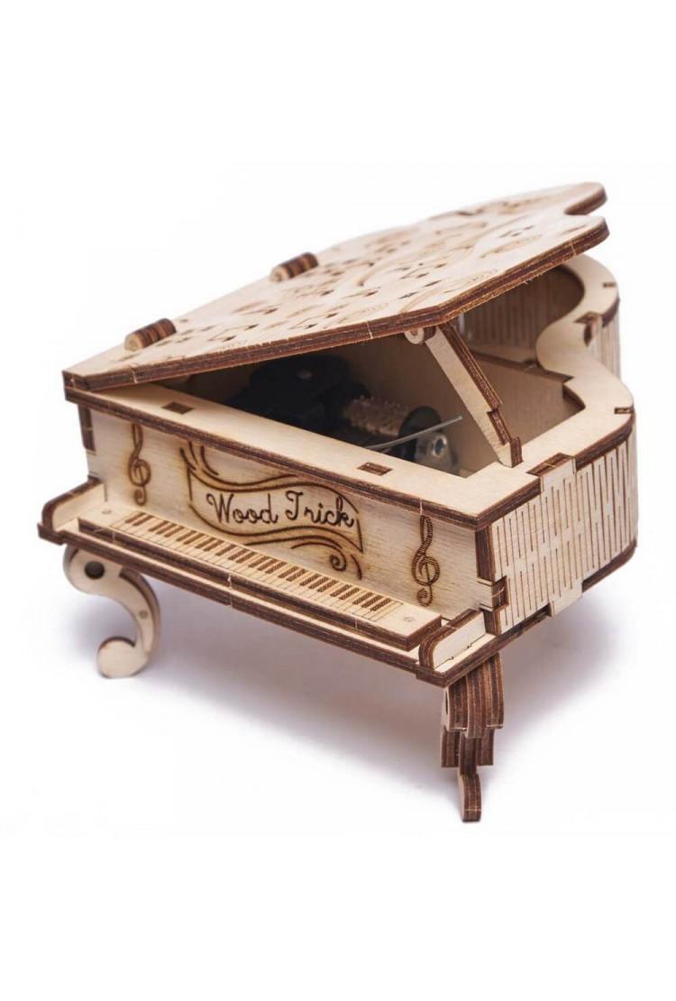 Сборная музыкальная шкатулка Wood Trick Рояль