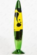 Лава-лампа 35см Синяя/Жёлтая (Зелёный Хром)