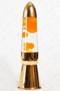 Лава-лампа 36см Оранжевая/Прозрачная (Хром)