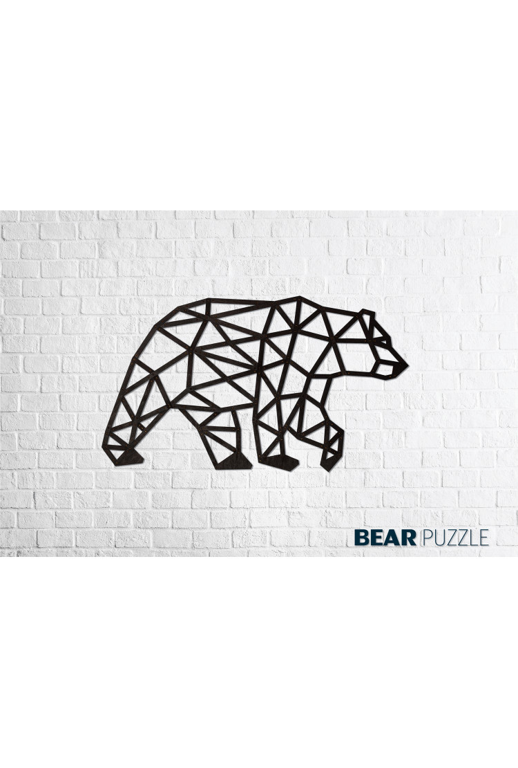 Деревянный интерьерный пазл EWA Медведь