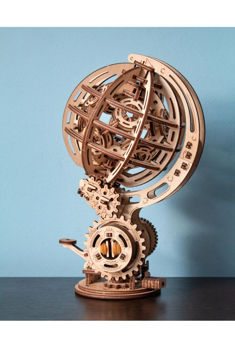 Конструктор деревянный 3D EWA Кинетический глобус