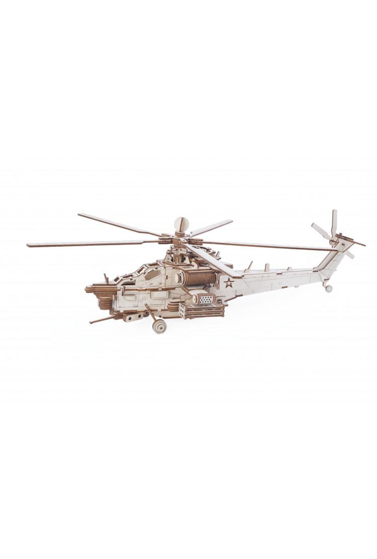 """Конструктор из дерева """"Армия России"""" Ударный боевой вертолет"""