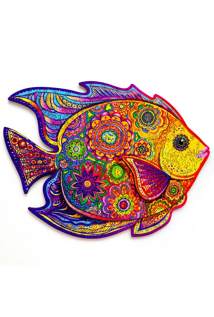 Unidragon деревянный пазл «Сияющая рыбка» KS